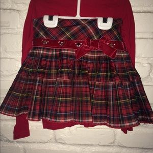 Holiday plaid skit and two tops